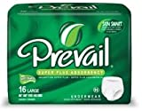 Prevail Maximum Absorbency Incontinence Underwear, Small/Medium, 18-Count (Pack of 4)