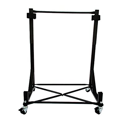 Heavy-duty Hardtop Stand Storage Cart (Black) with Securing Strap and Generic Hard Top Dust Cover: Automotive