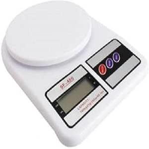 ميزان مطبخ الكتروني يتحمل وزن يصل إلى 10 كجم - لون ابيض