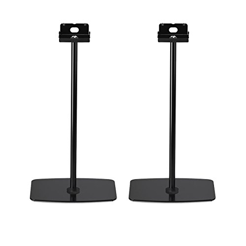 Flexson Horizontal Floor Stands for Sonos PLAY:5 - Pair (Black) by Flexson