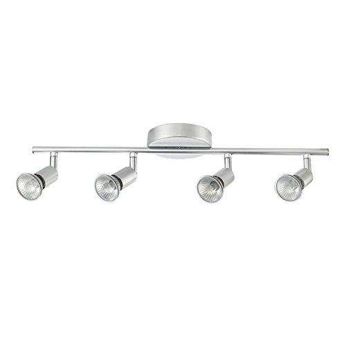 Globe Electric 4-Light Track Kit Light Bar, Brushed Silver Finish, GU10 Bulb Base Code, 58932 by Globe Electric (Image #3)
