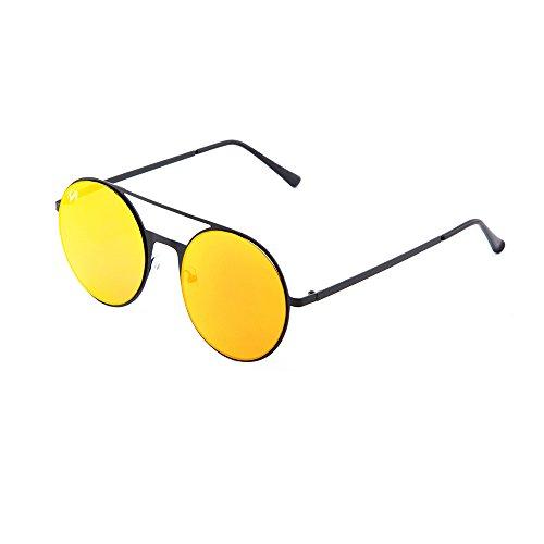 Naranja de sol mujer Gafas TWIG Negro degradadas espejo FRIDA Hxd8qwP