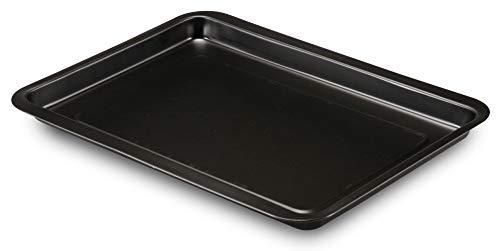 Formegolose Bakplaat, zwart, buitenmaat (35,9 cm x 39,4 cm), binnenmaat (32 x 37 cm)