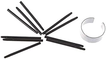 w//Removal Ring 10 pcs Replacement Pen Nibs Fits for Wacom Bamboo CTE MTE CTL CTH CTH Intuos 3//4