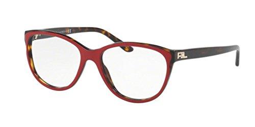 Eyeglasses Ralph Lauren RL 6161 5632 TOP RED/DARK (Dark Havana Frame)