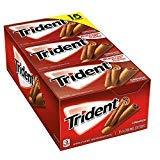 Trident Cinnamon Sugar Free Gum 15/14 Piece Packs Total 210 sticks