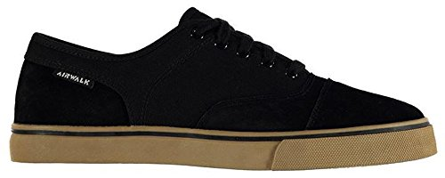 Mens Stylish Textured Tempo Canvas Trainers Skate Shoes Black nPkVRiFc6w
