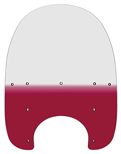 (Memphis Shades MEP6422 Ruby Windshield (Replacement Plastic For Harley-Davidson 21