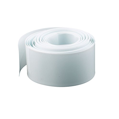 Uxcell a16061500ux0169 Heat Shrink Tube 16Mm Length 18.5Mm Dia Pvc Heat Shrink Tubing Battery Protective Tube White