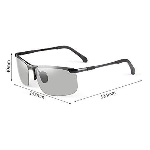 de Pesca ZQ Gafas Noche los de Conducción Conducción Sol Hombres Sol Gafas los Gafas polarizadas Color Que de Ojos Día y de Conducción Hombres afluencia de cambian rfrwq6Hn