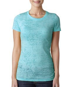 Next Level Baby Rib-Knit Crewneck Burnout Jersey T-Shirt, L, TAHITI BLUE