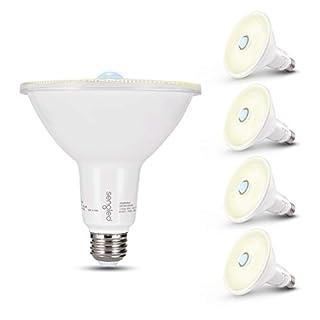 Sengled Motion Sensor Light Outdoor, Dusk to Dawn LED Outdoor Lighting, Security Flood Light PAR38 Photocell Motion Sensor, Waterproof, 3000K 1500LM, 4 Pack