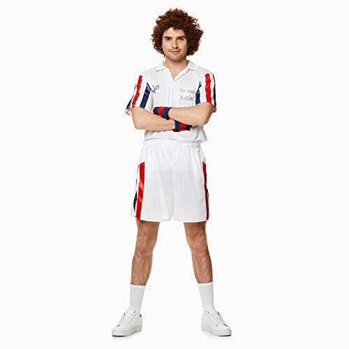 Tennis Player Costume Set - Halloween Mens 80s Sports Athelete, X-Large -