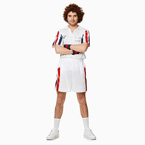 Tennis Player Costume Set - Halloween Mens 80s Sports Athelete, Medium