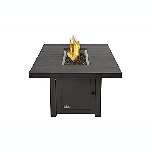 Napoleon St.Tropez Outdoor Recantangular Patio Fireplace Fire Pit, Rustic Bronze (Patio Fireplace And Place)