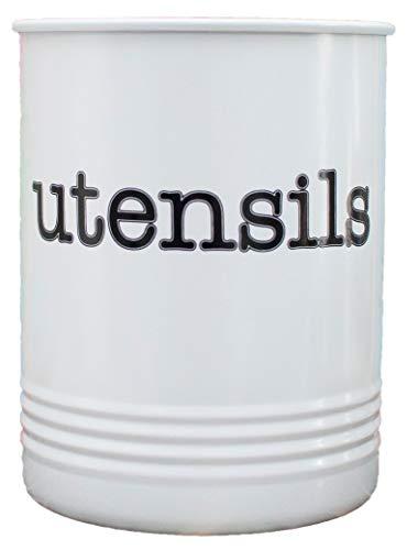 Large White Utensil Holder - Kitchen Utensil Crock- To Organ