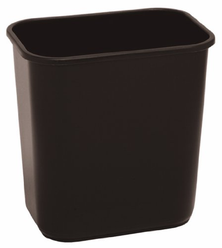 Continental 2818BN 28-1/8 Quart Commercial HDPE Trash Can, Rectangular, Brown