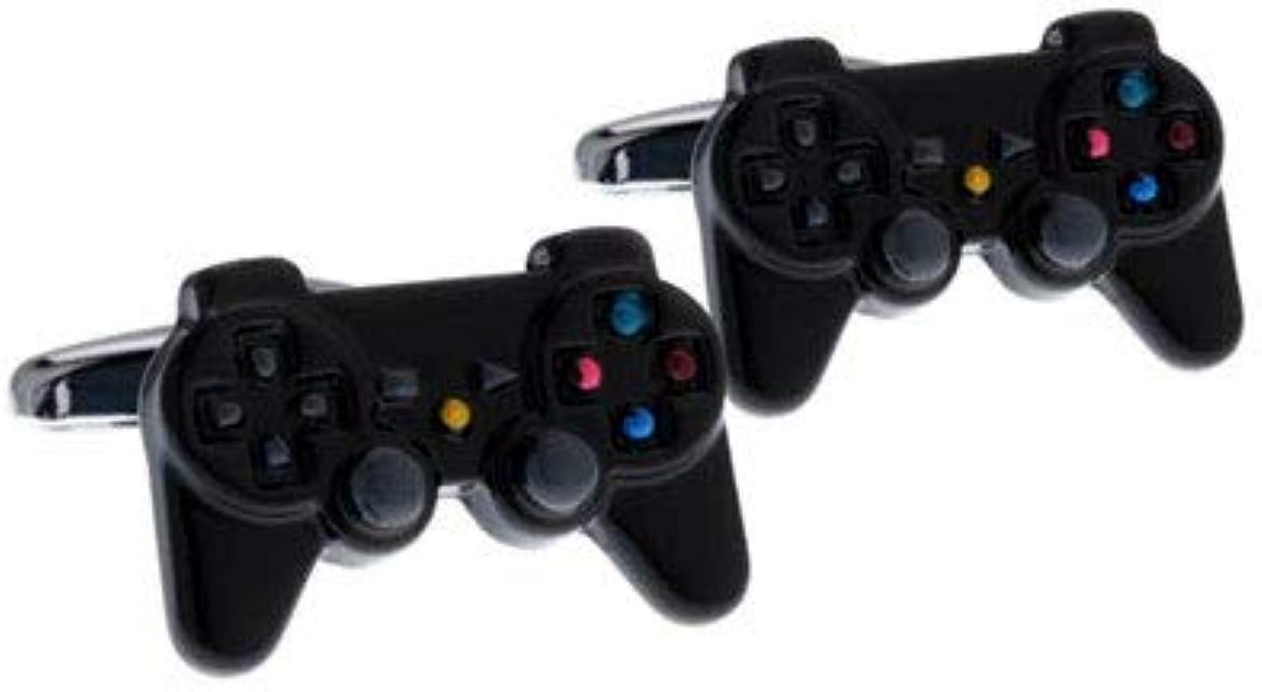 Gemelos para camisa Mando PlayStation Resina Negro: Amazon.es ...
