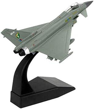 wangwang Juguete Modelo de avión Eurofighter Typhoon Aviones de Combate Aviones Militares Modelos de Aviones Juguetes niños Adultos Juguetes para la colección de exhibición: Amazon.es: Juguetes y juegos
