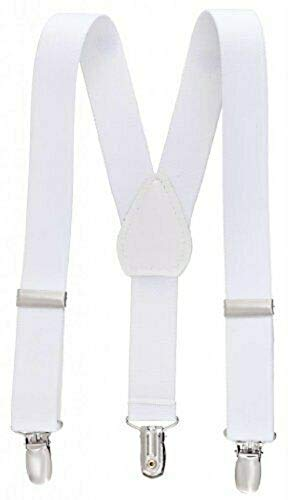 White Kids Toddlers Suspenders Fashion Boys Girls US Ship Free Size Tkmiss from Unknown
