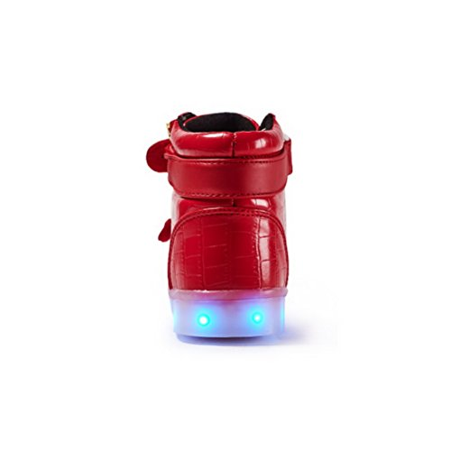 for Adult Sneakers Girls Shoes Light Fashion Boy Up Red LED Light Kids Kids Child up Sneaker LED wqUHXnZw