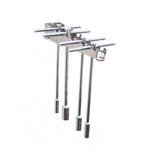 Pit Posse T Handle Tool Rack Holder Aluminum