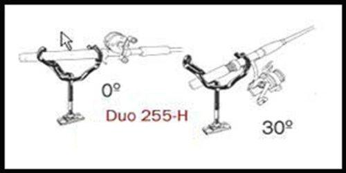 - Driftmaster 25510H Lil Duo Rod Holder, Black Finish