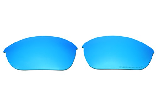 Polarized Replacement Sunglasses Lenses for Oakley Half Jacket 2.0 with Excellent UV Protection(Ice Blue Mirror) by C.D