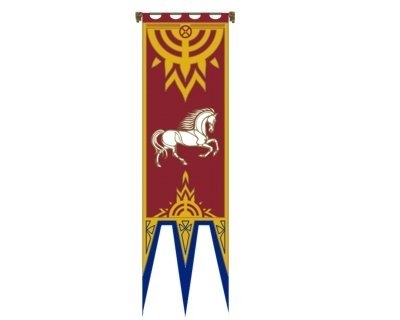 Lord of the Rings - Flag - Banner of Rohan IV - 57x196 cm