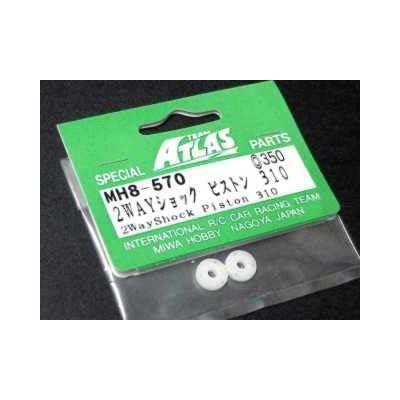 Atlas Integy RC Model Hop-ups MH8-570 2 Way Shock Piston 310 for YM34v3, YM34T, YM34Si