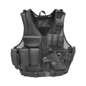 Paintball / Hunting / Airsoft Black Deluxe Tactical Vest by Taigear