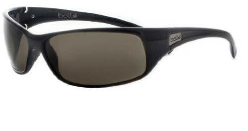 Bolle Recoil Sport Sunglasses 10405 Shiny Black / Polarized - Bolle Polarized Recoil