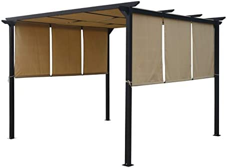 Christopher Knight Home 304382 Dione Outdoor Steel Framed 10 Gazebo
