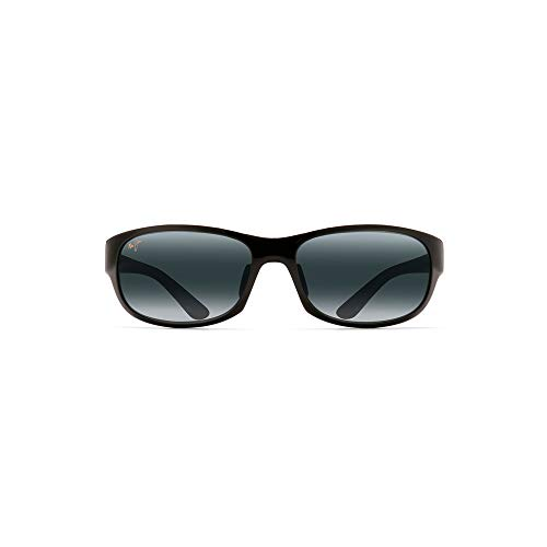 Black Plastic Grey Lens - Maui Jim Unisex Twin Falls Gloss Black Fade/Neutral Grey One Size