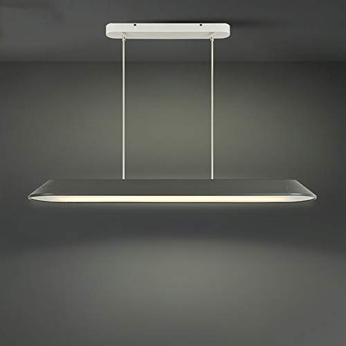 Mogicry Modern Creative Rectangle Office Chandelier Commercial Decoration Illumination Business Show Hanging Light Adjustable Household Led Office Building Pendant Lamp(Color: Warm Light) ()