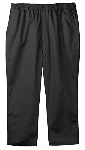 (Falcon Bay Big & Tall Fully Elastic Waist Casual Pant - Black,40X30)