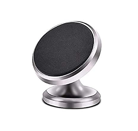 Baskety 360 Rotating Universal Magnetic Phone Car Mount for 4-8-inch Smartphones Cart Holder Gold