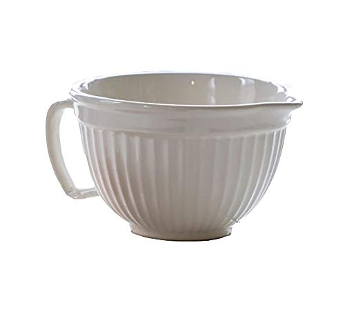 Creamware Collection - Park Hill Collections Ribbed Creamware Batter Bowl