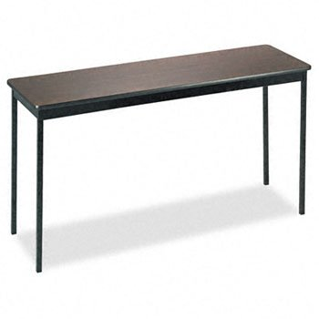 Barricks Utility Table with Laminate Top & Steel Legs TABLE,UTILTY,18X60,WA/BK (Pack of 2)