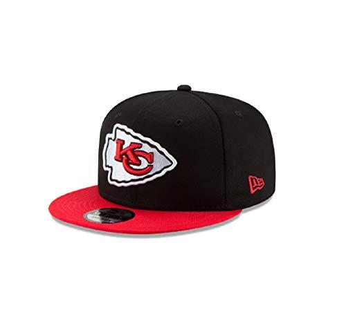 New Era Kansas City Chiefs Hat NFL Black Red 2Tone 9FIFTY Snapback Adjustable Cap Adult One -
