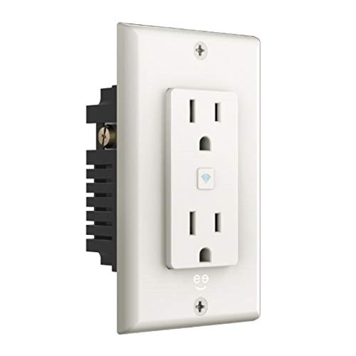 Geeni Smart WiFi 2 Outlet In-Wall Plug Smart Plug, No Hub Required, Compatible with Alexa, The Google Assistant, White