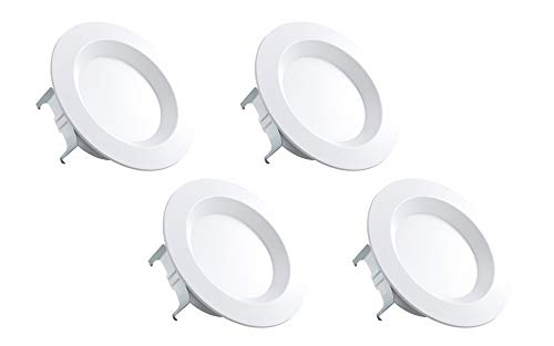 Bakersmith LED Recessed Retrofit Downlights 6 inch (4-Pack), (5 inch Compatible), Dimmable, 12W (75W Replacement), 3000K (Soft White), 80 CRI, 750 Lumens, Energy Star and UL Recognized