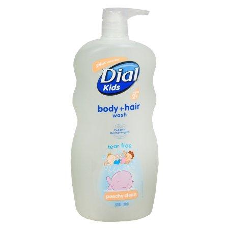 Dial Kids Body & Hair Wash Tear Free, Peachy Clean (2pk)