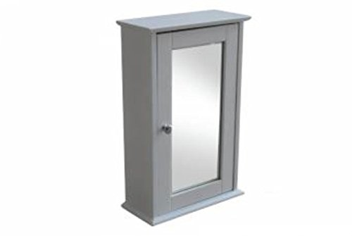 DOWNTON INTERIORS Traditional Dove Grey Bathroom Wall Cabinet Cupboard with Mirror (LALASKAGREYWALL) **Full Range of Matching FAIRBANKS Furniture is Available **