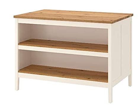 Amazon.com: Ikea Kitchen island, white, oak 1428.8112.106 ...