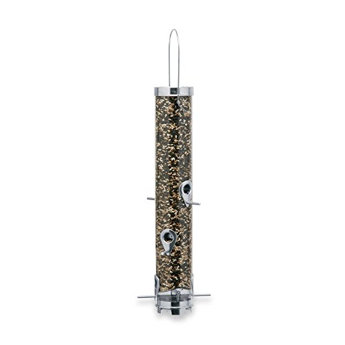 Droll Yankees® 6-Port 3.5-Inch Sunflower/Mixed Seed Tubular Bird Feeder Droll Yankees Ring Pull