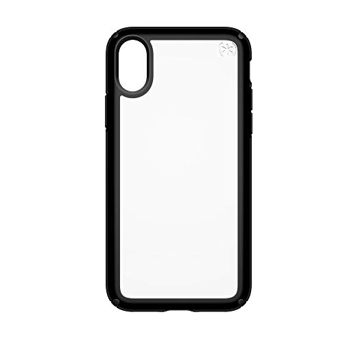 Speck Products Presidio Show Case for iPhone XS/iPhone X, Clear/Black