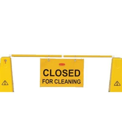 Hanging Safety Sign with ''Closed for Cleaning'' Logo [Set of 6] by Rubbermaid Commercial Products (Image #1)