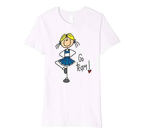- Cheerleader Sports Cheering Stick Figure T-shirt
