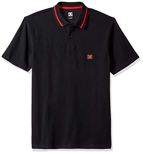 DC Men's New LAKEBAY Polo, Black, XL ()